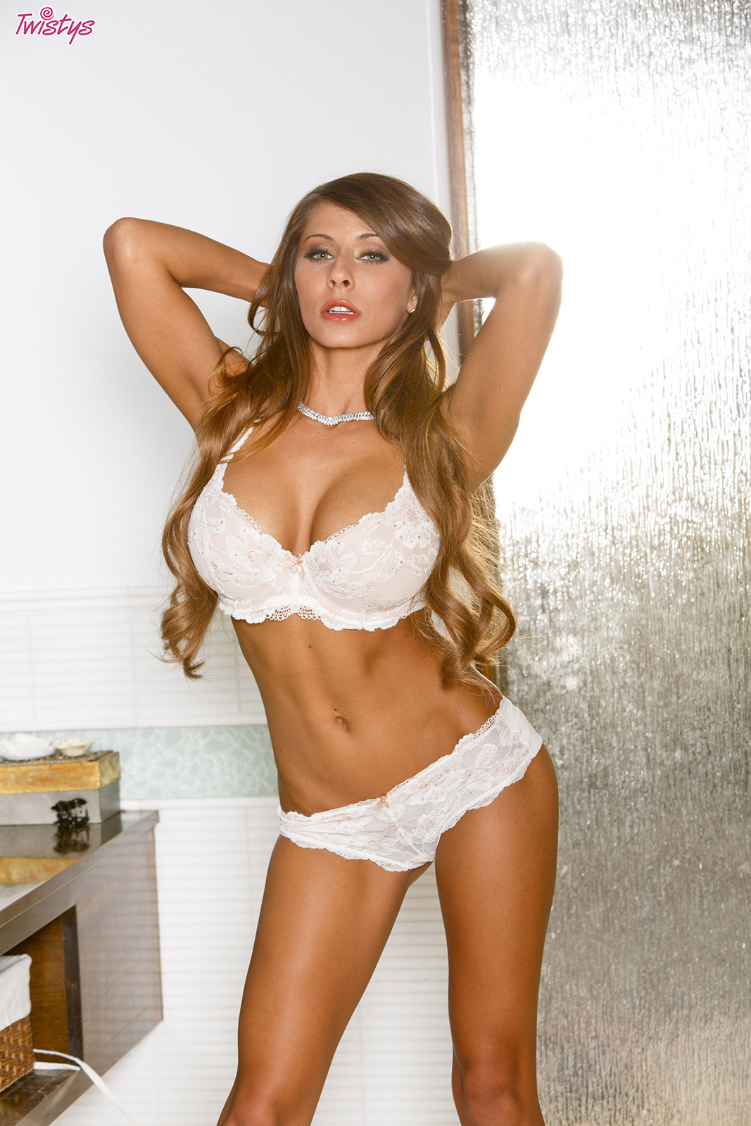 Lingerie white madison ivy