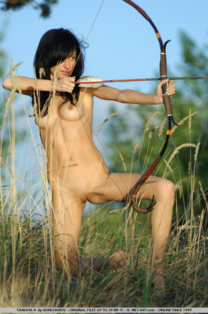 archery Asian nude